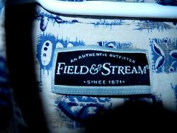 Field & Stream Button Down Silk Blend Shirt--size L  EUC