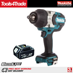 Makita DTW1002Z 18V LXT Brushless 12In Impact Wrench + 1 x 5.0Ah BL1850 Battery $399.45