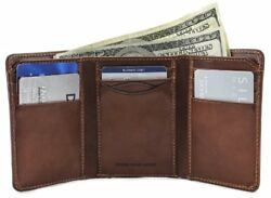 Tony Perotti Mens Italian Cow Leather Classic Trifold Wallet with ID Window i...