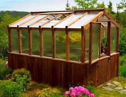 Western Red Cedar Greenhouse 8' x 8' and 8' x 12' - ON SALE NOW!