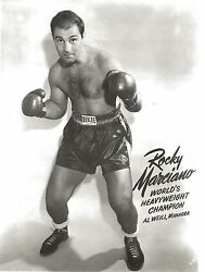 ROCKY MARCIANO 8X10 PHOTO BOXING PICTURE CLOSE UP HEAVYWEIGHT CHAMPION AL WEILL $3.99