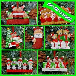 Personalised 345 Family Christmas XMAS Tree Decoration Gift Bauble Ornament GBP 7.99