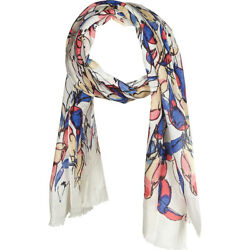 Kinross Cashmere Toucan Print Scarf - Quince Multi HatsGlovesScarve NEW