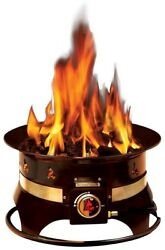 Premium Fire Pit Bowl Heater Gas Propane Fuel Burn Clean Stand Firebowl Portable