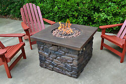 Yosemite Outdoor Propane Fire Pit Portable Patio Backyard Camping Gas Heater NEW