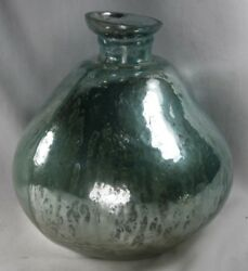 Antique Glass Vase hand blown silver color $55.00