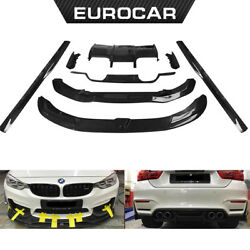 PSM carbon parts for BMW front lip&side skirts F80 M3 &F82 M4  2014-2017 year