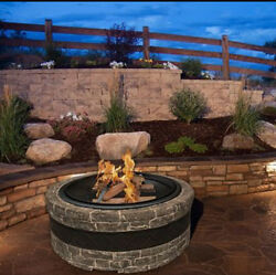 Fire Pit Patio Furniture Large Stone Outdoor Backyard Bowl Screen Cover Bonfire