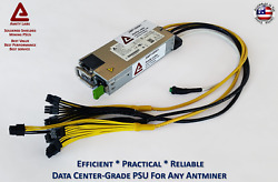 Cryptocurrency Mining Power Supply For Any Antminer S9 APW3 APW7 Replacement $99.50