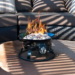 Sunward Patio Portable Outdoor 58000 BTU Propane Fire Pit  19' Fire bowl