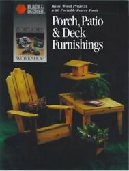 PORCH PATIO DECK FURNISHINGS BASIC WOOD PROJECTS WITH PORTABLE By Creative *NEW*