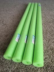 Lot 4x Green Noodle Swimming Pool Noodle therapy water floating foam craft $14.99
