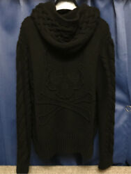USED MMJ mastermind JAPAN majestic period cashmere 100% hooded cardigan Size:S