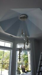 modern glass bulb chandelier and 4 glass bulb pendants ceiling must 12 14 foot  $500.00
