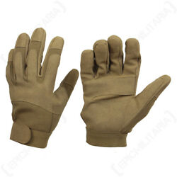 Dark Coyote Gloves Outdoor Work Army Military Padded Airsoft All Sizes New $18.95