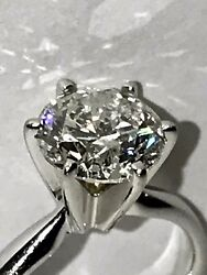 ZALES 1.70 CT DIAMOND BRILLIANT ROUND SI3 ON FIRE 14K GOLD ENGAGEMENT RING SZ 5
