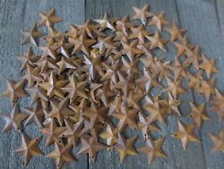 Lot of 100 Rusty Barn Stars 1.5 inch Rustic Primitive Country Rusted Dimensional $9.99