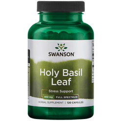 Swanson Holy Basil Leaf Capsules 800 mg 60 Count. $9.04