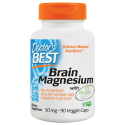 Doctor#x27;s Best Brain Magnesium with Magtein 50 mg 90 Veg Caps $33.89