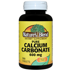 Nature#x27;s Blend Pure Calcium Carbonate 600 mg 100 Tabs $9.39