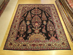 10 x 13 Hand Knotted Persian Tabriz ( Gardens of Paradise Design )Wool Rug