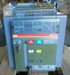 ABB SACE E3S25 2500 A CIRCUIT BREAKER - RECONTESTED drawout accessories avail