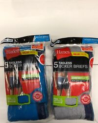 HANES BOXER BRIEFS 10-PACK FOR MENS ASSORTED COLORS  $22.99