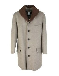 New Issey Miyake Wool Over Coat With Fur Shawl Collar Size M BNWT RRP £1285 VTG