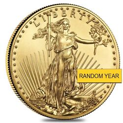 1 10 oz Gold American Eagle $5 Coin BU Random Year $222.89