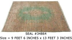 I have TWO Beautiful soft green Antique Persian Kerman Oriental Rugs