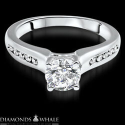 Round Cut 1.18 CT Enhanced Bridal Diamond Ring SI1D 18K Gold Solitaire Ring
