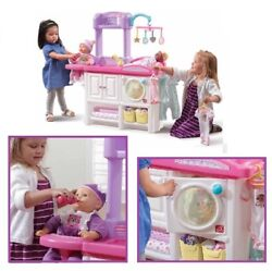 Baby Doll Playset Pretend Mommy Furniture Accessories Lot High Chair Bottles