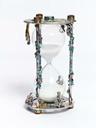 Silver Glass sand timer