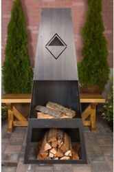 Ember Max Steel Wood Burning Outdoor Fireplace