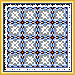 Tile Mural Barcelona Replica Design B066 Kitchen Backsplash Marble Ceramic