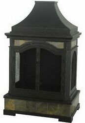 Monroe Steel Wood Burning Outdoor Fireplace