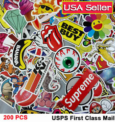 200 Skateboard Stickers bomb Vinyl Laptop Luggage Decals Dope Sticker Cool LOT