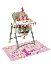 Pink 1st Birthday Party High-Chair Kit