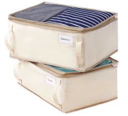 New Real Simple 2-Pack Garment Storage Bag Home Space Saver Clothes Organizer