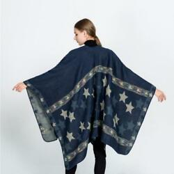 Cape For Women Star Pattern Fork Shawls and Wraps Large Warm Cashmere Scarf
