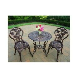 3 PIECE BISTRO PATIO SET Outdoor Furniture Lawn Garden Pool Chair DINING TABLE