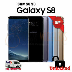 NEW Samsung GALAXY S8 64GB (SM-G950U1 Factory Unlocked) GSM+CDMA - All Colors