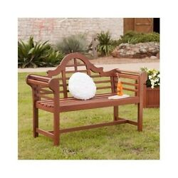 Patio Outdoor Chair Garden Yard Lawn Furniture Park Bench Seat Oiled Hardwood