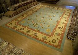11 x 15 Hand Knotted Afghan Ziegler Oriental Rug _Vegetable Dyes Hand Spun Wool