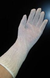 12 Pairs EXTRA LONG Natural  STRING KNIT GLOVES COTTON POLYESTER Adult One-Size