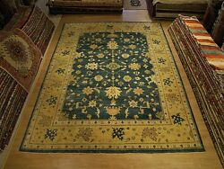 11 x 14 Handmade Hand Knotted Oushak Oriental Rug _Veggie Dyes Very Soft Wool