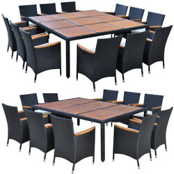 Outdoor Patio Dining Set Rattan Wicker Garden Table and Chairs Set 11pcs13pcs✓