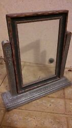 1920s VICTORIAN WOOD STANDING PICTURE FRAME  HOME DECOR  LOG CABIN  ESTATE