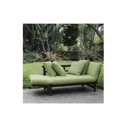 Outdoor Patio Lounge Converting Lawn Pool Sofa Lounger Furniture Chair Set Green