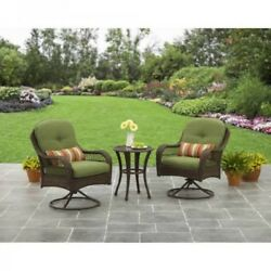 Wicker 5PCS Patio Garden Bistro Set Furniture Table Swivel Chairs Cushion Pillow